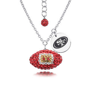 NFL Football San Francisco 49ERS Silver Necklace
